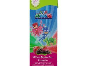 Φυσικός Χυμός PJ Masks Μήλο Φράουλα Σταφύλι 250ml