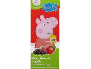 Φυσικός Χυμός Peppa Pig Μήλο Φράουλα Σταφύλι 250ml