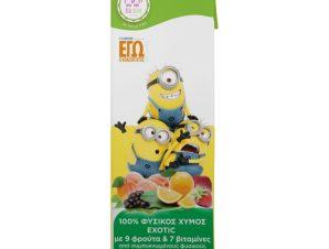 Φυσικός Χυμός Minions Exotic 9 Φρούτα 250ml