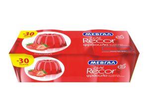 Ζελέ Recor Φράουλα 2x150g Έκπτωση 0.3Ε